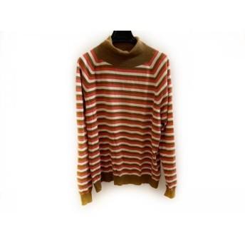 【中古】 パーリーゲイツ PEARLY GATES 長袖セーター サイズ5 XL メンズ アイボリー ブラウン レッド