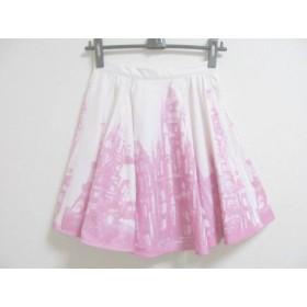 【中古】 チェスティ Chesty スカート サイズ0 XS レディース 美品 白 ピンク
