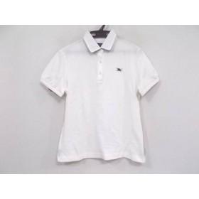 【中古】 バーバリーゴルフ BURBERRYGOLF 半袖ポロシャツ サイズL レディース 白 ボルドー