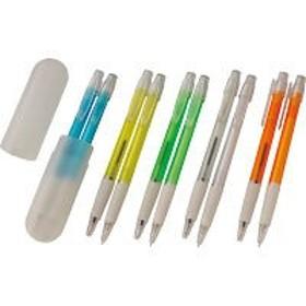 ラバーボールペン&シャープペン(チューブケース入) (SEFPW‐201BS) ※色指定不可(単品販売)