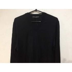 【中古】 ドルチェアンドガッバーナ DOLCE & GABBANA 長袖セーター サイズ48 M メンズ 美品 黒 Vネック