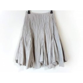 【中古】 フランコフェラーロ FRANCO FERRARO スカート サイズ2 M レディース ベージュ