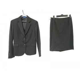 【中古】 レミュー LES MUES スカートスーツ サイズS レディース 美品 黒