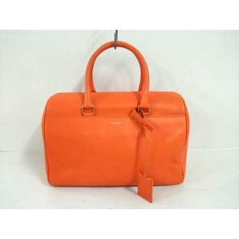 【中古】 サンローランパリ SAINT LAURENT PARIS ハンドバッグ CLD322049 オレンジ レザー