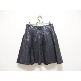 【中古】 アドーア ADORE スカート サイズ38 M レディース 黒 花柄