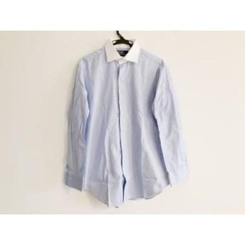 【中古】 ポロラルフローレン POLObyRalphLauren 長袖シャツ サイズ41-84 メンズ ブルー 白
