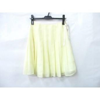 【中古】 プライドグライド Prideglide スカート サイズ38 M レディース イエロー