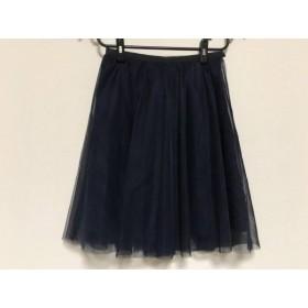【中古】 アプワイザーリッシェ Apuweiser-riche スカート サイズ1 S レディース 美品 ネイビー