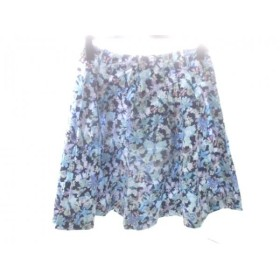 【中古】 キャシャレル cacharel スカート サイズ38 M レディース ネイビー ブルー