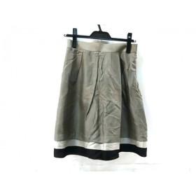 【中古】 アンタイトル UNTITLED スカート サイズ2 M レディース グレー マルチ