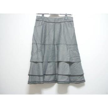 【中古】 トゥービーシック TO BE CHIC スカート サイズ42 L レディース ダークグレー 黒