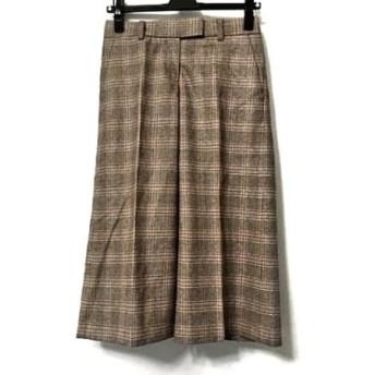 【中古】 セオリー theory パンツ サイズX0 XL レディース 美品 ブラウン チェック柄
