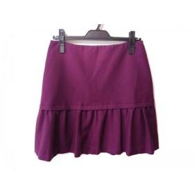 【中古】 ニジュウサンク 23区 ミニスカート サイズ40 M レディース 新品同様 ピンク