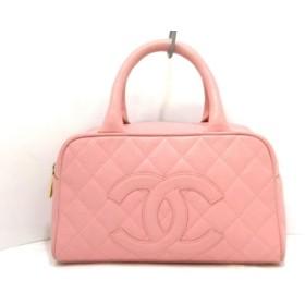 【中古】 シャネル CHANEL ハンドバッグ マトラッセ A20996 ピンク ボーリングバッグ/ゴールド金具