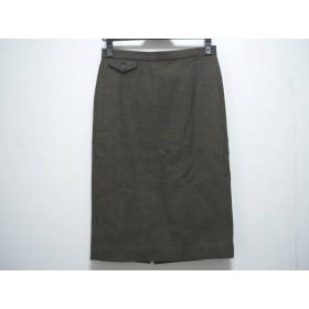 【中古】 ウィムガゼット whim gazette スカート サイズ36 S レディース ダークブラウン 黒