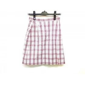【中古】バーバリーゴルフ BURBERRYGOLF スカート サイズ9 M レディース 白xレッド チェック柄