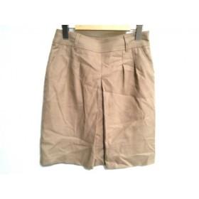 【中古】 アンタイトル UNTITLED スカート サイズ2 M レディース ベージュ プリーツ