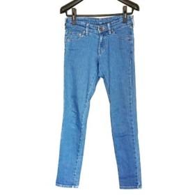 【中古】 ミュベールワーク MUVEIL WORK ジーンズ サイズ38 M レディース 美品 ブルー リボン