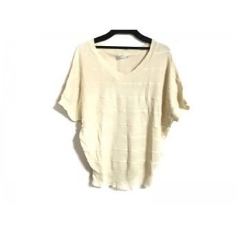 【中古】 アナトリエ anatelier 半袖セーター サイズ38 M レディース ベージュ