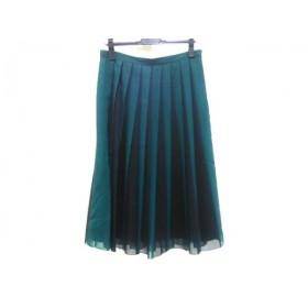 【中古】 アンタイトル UNTITLED スカート サイズ42 L レディース グリーン ブラック