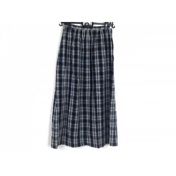 【中古】 ヨークランド YORKLAND スカート サイズ9AR S レディース 黒 グレー 白 チェック柄