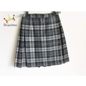 オニール 巻きスカート サイズ36 S レディース 美品 グレー×ダークグレー×黒 チェック柄     スペシャル特価 20191008