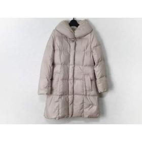 【中古】 アプワイザーリッシェ ダウンコート サイズ2 M レディース ピンク 冬物/ビジュー/ビーズ