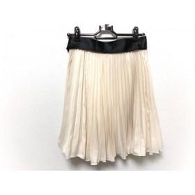 【中古】 アプワイザーリッシェ Apuweiser-riche スカート サイズ1 S レディース アイボリー プリーツ
