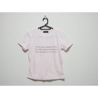 【中古】 フォクシーニューヨーク FOXEY NEW YORK 半袖Tシャツ レディース ピンク ブラウン