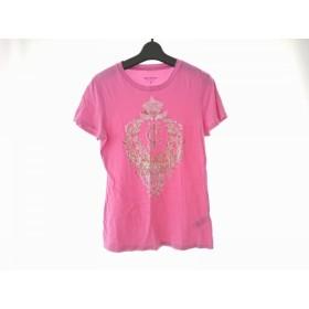 【中古】 ジューシークチュール JUICY COUTURE 半袖Tシャツ サイズM レディース ピンク ゴールド マルチ