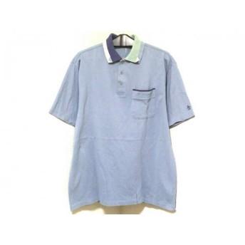 【中古】 マンシングウェア 半袖ポロシャツ サイズL メンズ 美品 ライトブルー ブルー GrandSlam