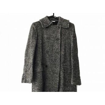 【中古】 マックスマーラ Max Mara コート サイズ8 M レディース 黒 ベージュ 冬物