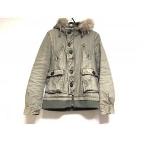 【中古】 マウジー moussy ダウンジャケット サイズ2 M レディース ダークグリーン 冬物