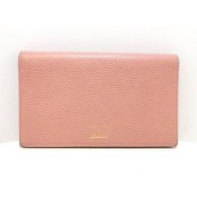 【中古】 グッチ GUCCI 財布 スウィング 368231 ピンク ベージュ ショルダーウォレット/ストラップ取外可