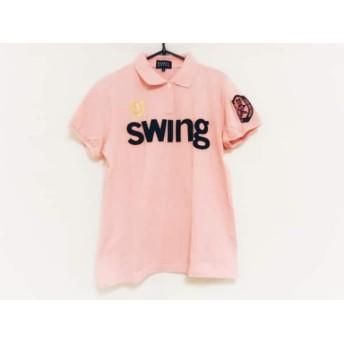 【中古】 パーリーゲイツ PEARLY GATES 半袖ポロシャツ サイズ2 M レディース 美品 ピンク