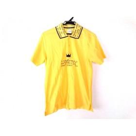 【中古】 カステルバジャックスポーツ CastelbajacSport 半袖ポロシャツ サイズ2 M メンズ イエロー 黒