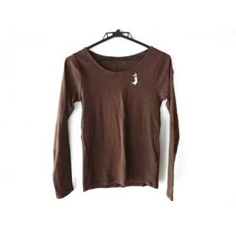 【中古】 フランシュリッペ franchelippee 長袖Tシャツ サイズM レディース ダークブラウン