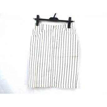 【中古】 イエナ IENA ミニスカート サイズ36 S レディース アイボリー ブラック