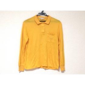 【中古】 クリスチャンディオールスポーツ 長袖ポロシャツ サイズS レディース オレンジ