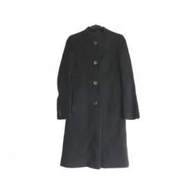 【中古】 パンソー PINCEAU コート サイズ38 M レディース 黒 冬物