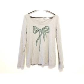 【中古】 シーバイクロエ 長袖Tシャツ サイズ38 M レディース グレー グリーン 黒 リボン/スター