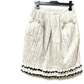 【中古】 ルネ Rene スカート サイズ36 S レディース 美品 アイボリー ベージュ 黒