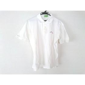 【中古】 ミッソーニ MISSONI 半袖ポロシャツ サイズ48 M メンズ 白 CLUB