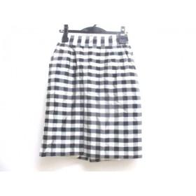 【中古】 アナトリエ anatelier スカート サイズ36 S レディース 白 黒