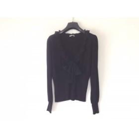 【中古】 エフデ ef-de 長袖セーター サイズ13 L レディース 黒