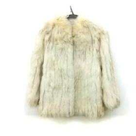 【中古】 サガフォックス SAGA FOX コート サイズ11 M レディース アイボリー ライトブラウン
