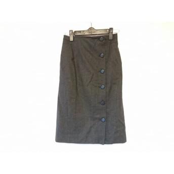 【中古】 マテリア MATERIA スカート サイズ36 S レディース ダークグレー