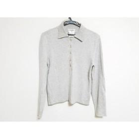 ceee7a71e8fa 【中古】 シャネル CHANEL 長袖セーター サイズ38 M レディース グレー シルク/カシミヤ