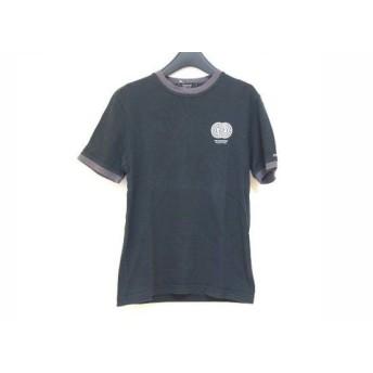 【中古】 バーバリーブラックレーベル 半袖Tシャツ サイズ2 M メンズ 黒 白 ダークグレー