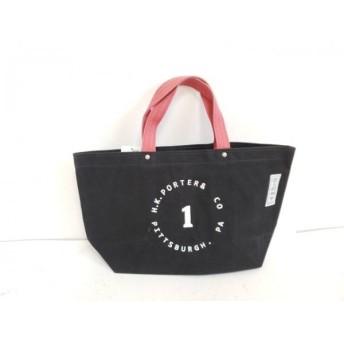【中古】 イチザワシンザブロウハンプ 一澤信三郎帆布 トートバッグ 黒 ピンク 白 キャンバス